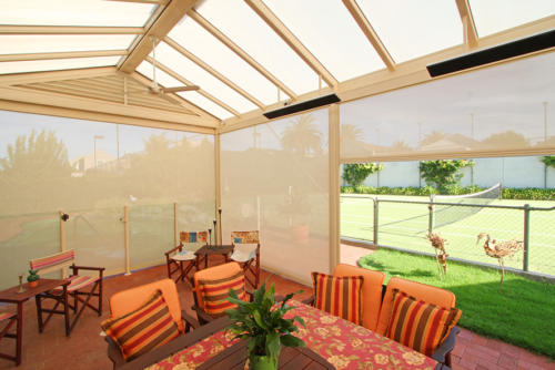 Verandah Blinds Orange Outdoor patio